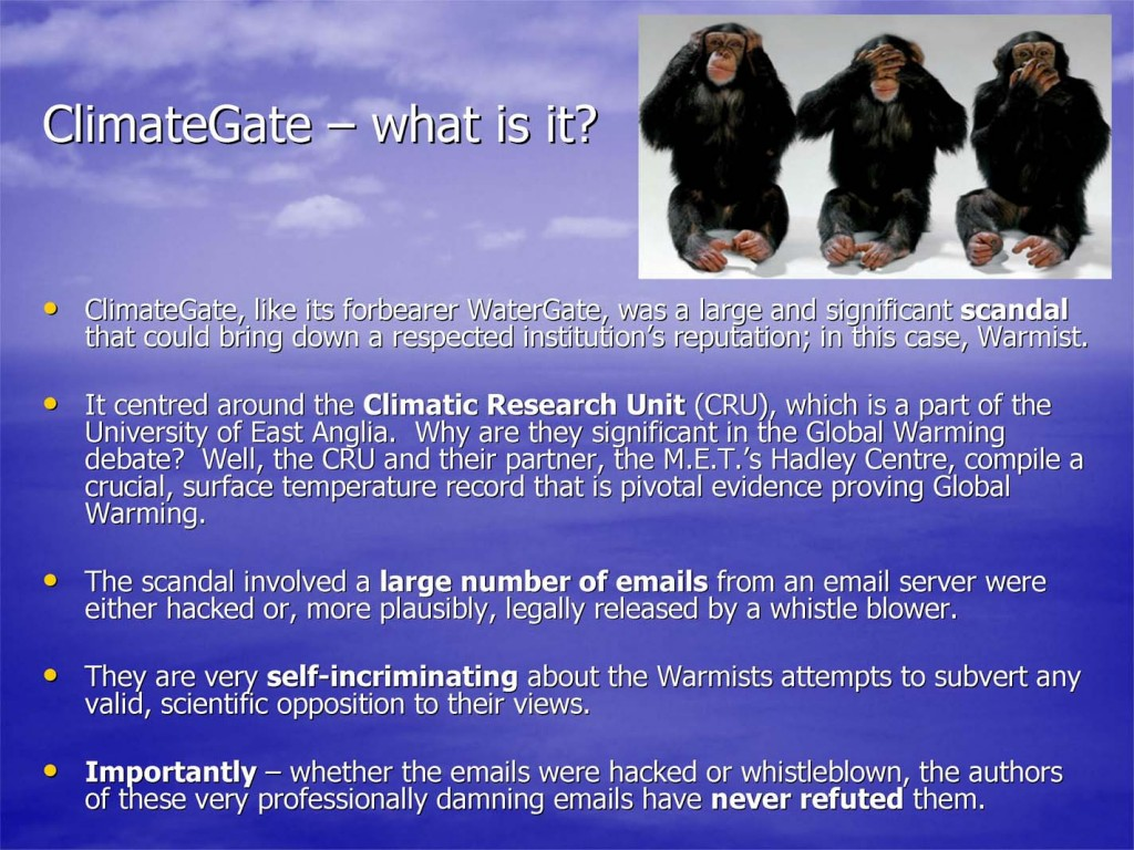 "an overview of the scientists arguing on the topic of global warming We use the global warming ""hiatus"" as an example of the consequences of  seepage  we first review known reasons why such seepage may occur we  then  that any research related to climate change is subject to organized denial  (eg,  moreover, climate scientists might argue that their values predispose  them to be."
