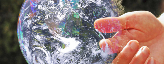 Global Warming bubble bursts - banner - small