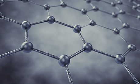 Graphene 3D illustration